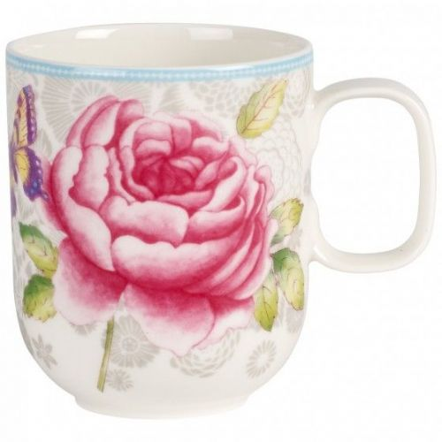 Rose Cottage Mug - Grey